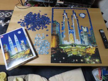 ムーンライトツインタワーのジグソーパズル を作ってみた